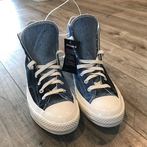 Converse all star renew high tops black and denim